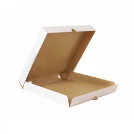 Коробка для пиццы 400x400x45 бело-бурая
